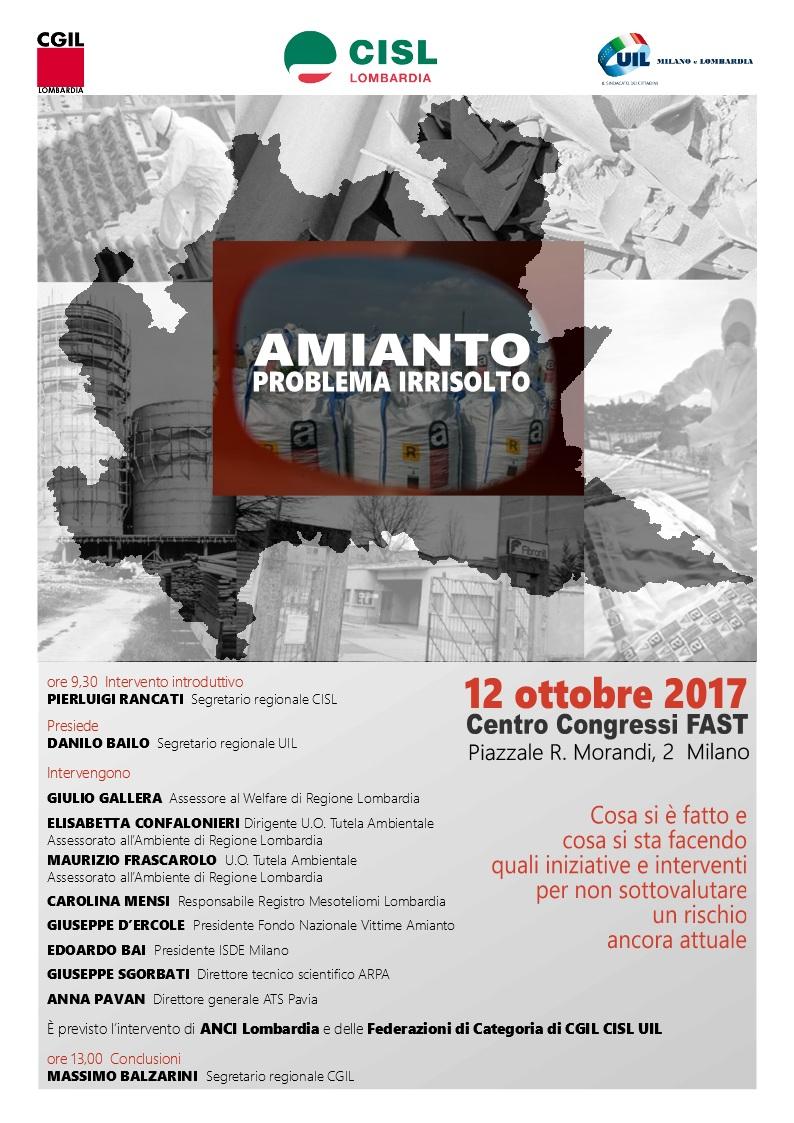 Amianto regione lombardia 2017